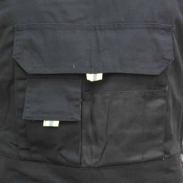 Triuso POWER Latzhose schwarz/grün 270g Größe 54