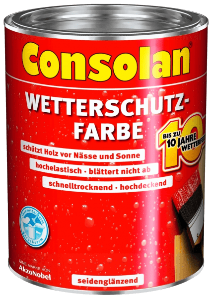 750ml Consolan Wetterschutzfarbe rotbraun