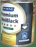 750ml RENOVO Premium Weißlack Seidenmatt Weiss 0095
