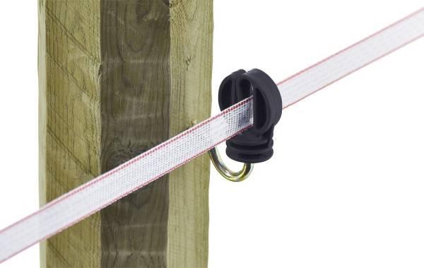 25 Breitband Ringisolatoren 20mm, mit Holzgewinde