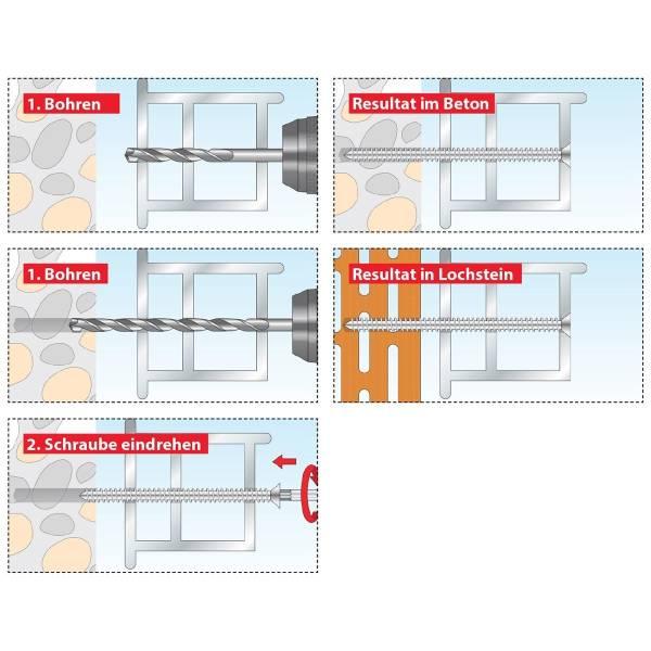 TOX Rahmenschraube Window Pro SK 7,5 x 112, 6 Stk.