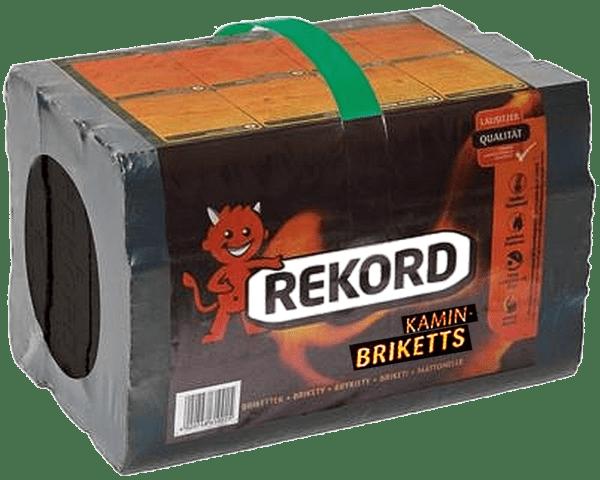 10kg REKORD Folienpack Briketts