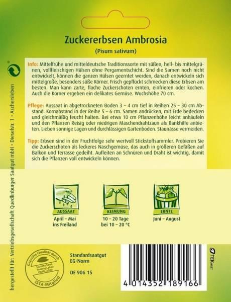 Zuckererbsen Ambrosia