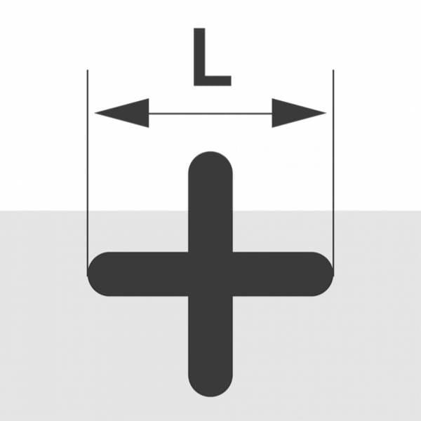 Fliesenkreuze 5,0mm, 250 St., Kunststoff