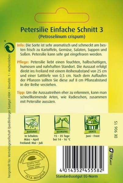 Petersilie Einfache Schnitt 3