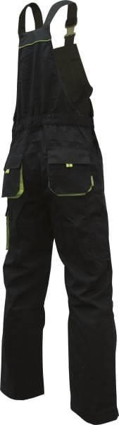 Triuso POWER Latzhose schwarz/grün 270g Größe 56