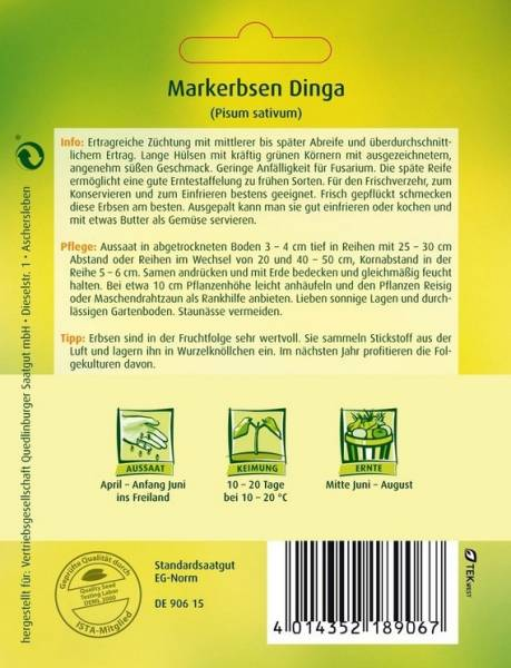 Markerbsen Dinga