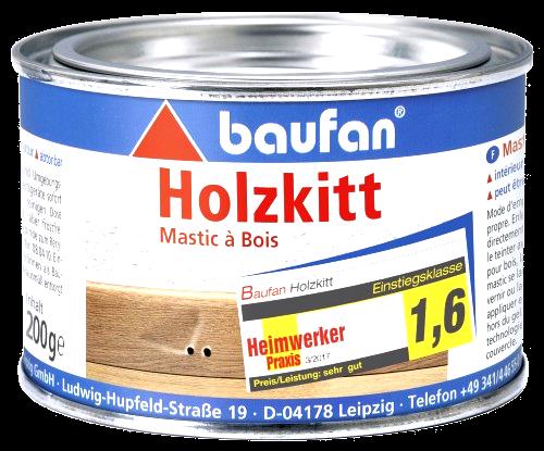 200g Baufan Holzkitt lösungsmittelfrei naturfarben