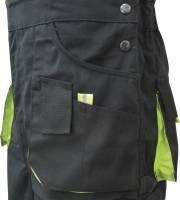Triuso POWER Latzhose schwarz/grün 270g Größe 46