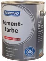 2,5L Renovo Zementfarbe steingrau RAL7030