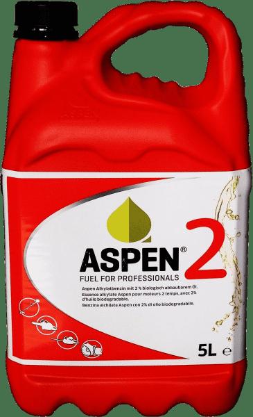 5 Liter ASPEN 2Takt Alkylatbenzin mit 2% Öl für 2-Takt-Motoren