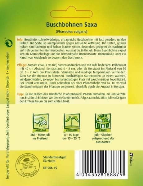 Buschbohnen Saxa