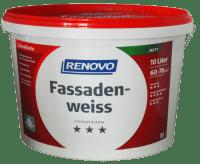 10L RENOVO Acrylat Fassadenweiss wetterbeständig