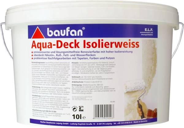 10 Liter BAUFAN Aqua-Deck Isolierweiss E.L.F.