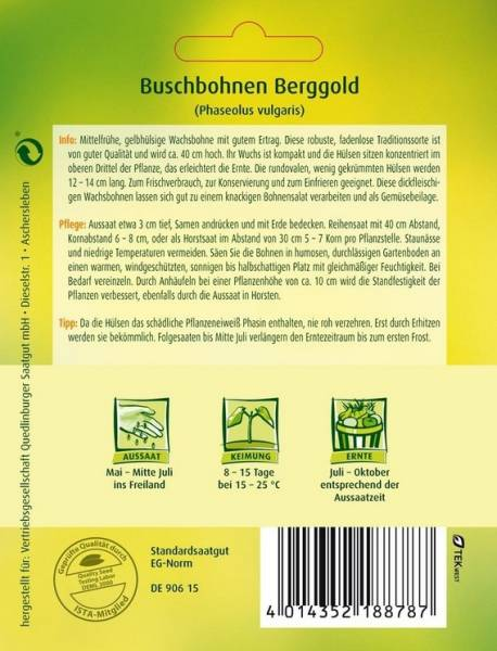 Buschbohnen Berggold