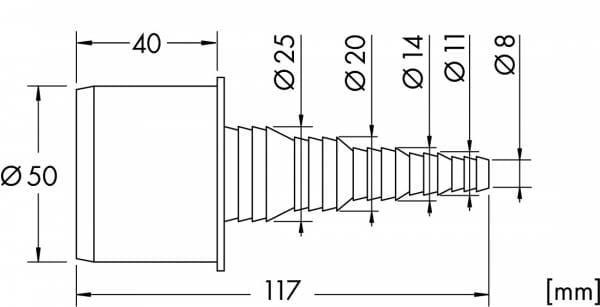Schlauchtülle DN50