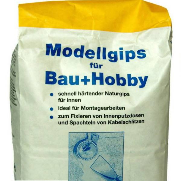 3x5kg Modellgips für Bau und Hobby