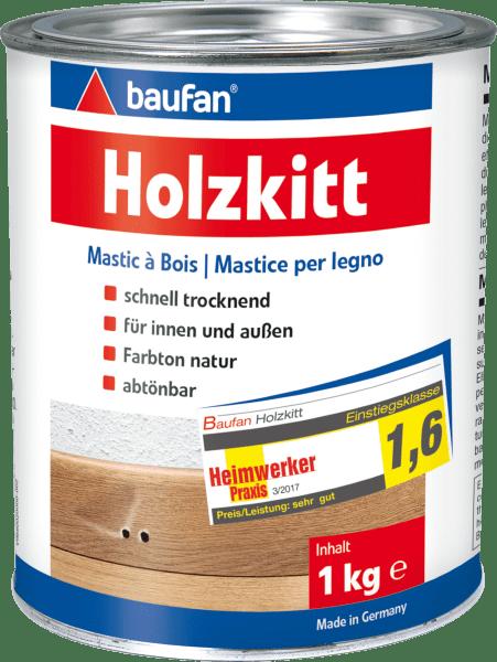 6x 1kg Baufan Holzkitt naturfarben